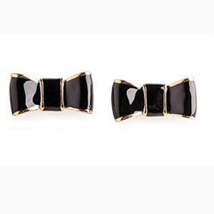 Kare Spade Bow Stud Earrings 12k Gold Plated
